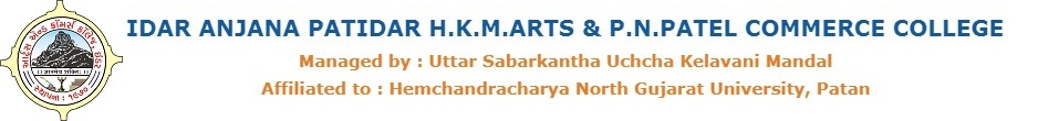 Idar Anjana Patidar H.K.M Arts and P.N. Patel Commerce College Idar